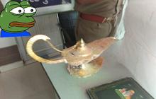 Bác sĩ chi 7 tỷ đồng mua đèn thần Aladdin trong truyền thuyết, cọ mãi không thấy thần ra nên đi báo công an