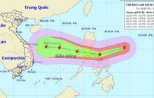 Siêu bão Goni giật trên cấp 17 đang vào Biển Đông