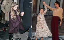 Lần nào dự show của bà Beck, công chúa nhỏ Harper cũng là người ăn diện nhất, chiếm spotlight của cả nhà