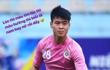 """Duy Mạnh phản hồi hài hước màu áo mới của Hà Nội FC: """"Lúc tím lúc hồng thì biết là nam hay nữ rồi đấy"""""""