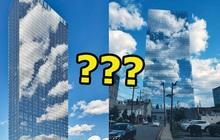 """Toà nhà """"gây lú"""" nhất thế giới chính là đây: Nhìn từ xa như đang… tàng hình giữa bầu trời, sự thật đằng sau là gì?"""