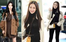 """Đọ sắc khốc liệt với Han Ye Seul, """"nữ hoàng dao kéo"""" Park Min Young vô tình lộ điểm nhạy cảm vì áo quá mỏng ở sân bay"""