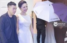 Tóc Tiên và Hoàng Touliver chính thức lộ diện trong đám cưới bí mật, che ô kỹ càng tương tự Hà Tăng, Bảo Thy