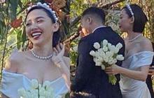 Ngây ngất visual của cô dâu Tóc Tiên trong váy cưới tinh khôi: Khoe vòng 1 nóng bỏng, đẹp rực rỡ như công chúa!