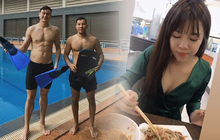 Chu đáo như cặp đôi Yến Xuân - Văn Lâm: Mua cả xe thức ăn, tự tay làm tiệc tiễn bạn thân về nước