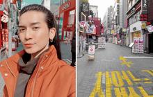 Đi Hàn Quốc đúng lúc dịch virus Corona bùng phát, BB Trần ghi lại được quang cảnh vắng vẻ hiếm thấy ở con phố đông đúc bậc nhất Seoul