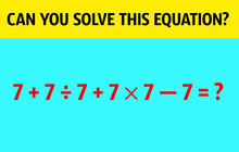 Giải được 5 câu hỏi dưới đây chỉ trong vòng 1 phút, chắc chắn bạn là thiên tài bẩm sinh!