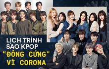 """BTS hủy họp báo toàn cầu, hàng loạt sao KPOP đồng loạt """"đóng băng"""" khi dịch Covid-19 bùng phát ở Hàn"""
