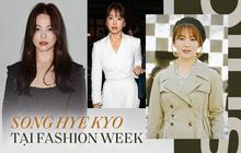 """Nghịch lý Song Hye Kyo khi dự Fashion Week: Nhan sắc ngày một """"đỉnh"""" nhưng style thì lại nhạt dần đều"""