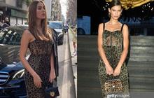 """Pha đụng hàng """"tại trận"""": Catriona Gray diện đầm y hệt siêu mẫu Ý tại show Dolce & Gabbana, người an toàn người """"chất chơi"""""""
