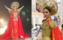 """Hoài Sa hé lộ """"sương sương"""" Quốc phục tại Miss International Queen 2020: Áo dài đỏ rực, quyền lực như nữ chiến binh"""