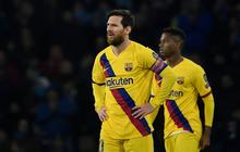 """Messi bị phong tỏa hoàn toàn, Barca phải nhờ tới trai đẹp người Pháp mới thoát """"toang"""" tại giải đấu danh giá nhất châu Âu"""
