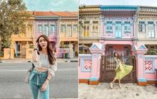 """Vừa phát hiện con phố 7 sắc cầu vồng cực hiếm người biết ở Singapore, hình sống ảo cứ tăng dần đều mỗi ngày vì background quá """"xịn"""""""