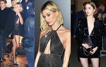 """2 mỹ nhân Hollywood """"đại náo"""" show Paris: Bà xã Justin khí chất ngút ngàn, """"Bạch Tuyết"""" Lily Collins thả rông táo bạo"""