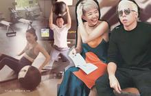 """Vợ chồng đồng lòng như Tóc Tiên và Hoàng Touliver: Vừa cưới đã rủ nhau tập luyện ngay để giữ body sau khi """"bung xõa"""""""