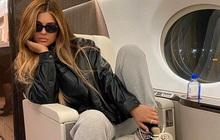 Cả bầu trời sang chảnh chỉ trong một bức ảnh: Nữ tỷ phú Kylie Jenner đi phi cơ riêng, túi xách chiếm spotlight vì giá trị khủng