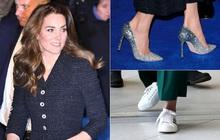 """Công nương Kate thật khéo lấy lòng công chúng, hôm trước vừa đi giày hiệu 16 triệu, hôm sau đã """"sửa sai"""" với đôi giày 800k"""