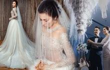 """Hôn lễ thế kỷ xa hoa bậc nhất của cặp đôi vàng showbiz Malaysia: Cô dâu diện váy 58 tỷ đồng, bánh cưới 8 tầng """"úp ngược"""""""