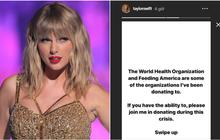 """Động thái đầu tiên của Taylor Swift sau khi drama cũ bị """"đào lại"""" khiến ai cũng phải nể: Thay vì quan tâm đến video bị leak, hãy quyên góp đẩy lùi dịch COVID-19!"""