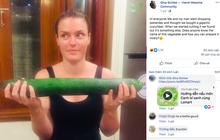 """Mua được quả """"dưa chuột khổng lồ"""" ở Hà Nội, vị khách nước ngoài đăng đàn hỏi cách nấu khiến dân tình không nhịn nổi cười: Nó là quả bí trời ạ!"""