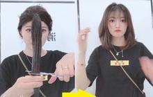 Cách tự cắt tóc tại nhà của hội con gái Trung Quốc, chẳng cần ra tiệm mà vẫn xịn sò ra trò