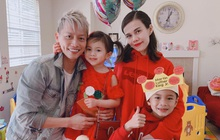 Thuỵ Anh tổ chức sinh nhật cho con gái 4 tuổi ở Mỹ, ảnh gia đình hé lộ mối quan hệ của chồng với con trai riêng