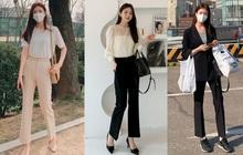 """Thường mặc quần âu chuẩn """"nhân viên kiểu mẫu"""", quý cô Hàn Quốc vẫn sành điệu chứ không chán ngắt nhờ mix đồ khéo léo"""