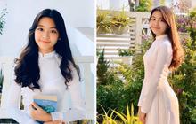 Con gái Quyền Linh mặc áo dài của mẹ đón sinh nhật tuổi 14: Đẹp nức nở thế này thì là công chúa chứ Lọ Lem gì!