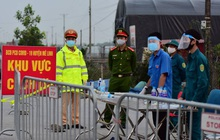 Ảnh: Cận cảnh chốt kiểm soát, phong tỏa thôn Hạ Lôi nơi bệnh nhân 243 sinh sống