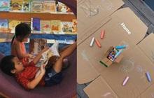 Sống trong biệt thự triệu đô chuẩn rich kids thứ thiệt, Hà Tăng vẫn khéo tái chế đồ cũ để các con chơi ở nhà mùa dịch