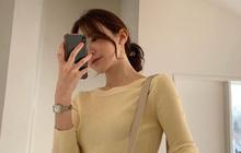 Ra là nhờ một thủ thuật, gái Hàn để kiểu tóc buộc thấp, búi thấp mới sang chảnh và cuốn hút đến vậy