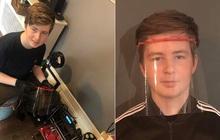 Tuổi trẻ tài cao: Thiếu niên 15 tuổi biến phòng ngủ thành nhà máy sản xuất mũ bảo hộ cho các y bác sĩ đang chống dịch Covid-19