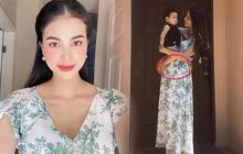 """Tung ảnh mới """"sống ảo"""", Phạm Hương để lộ loạt dấu hiệu mang thai lần 2 sau hơn 1 năm sinh quý từ đầu lòng?"""