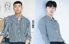 """Diện đồ y hệt, sao trông """"ông chủ Danbam"""" Park Seo Joon khác quá sau 2 năm: Đúng là cái răng cái tóc là góc con người!"""