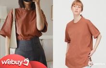"""Thử 8 dáng áo phông cơ bản của Uniqlo, cô nàng này còn """"khuyến mại"""" thêm vài cách mặc """"chanh sả"""" hay ho"""