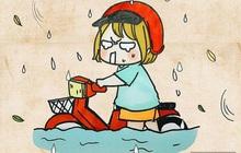 """Thứ 2 đầu tuần, tóc tai đẹp đẹp vuốt keo các thứ """"ăn trọn"""" một cơn mưa: Cảm giác khó tả thật!"""