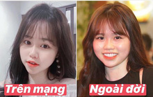 """Bạn gái Quang Hải cũng không thoát khỏi """"cán cân"""" ảnh trên mạng - ngoài đời: Bạn thích bên nào hơn?"""