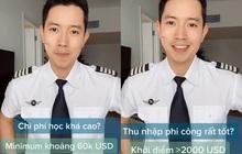 """Cơ trưởng trẻ nhất Việt Nam - Quang Đạt tiết lộ những bí mật ít người biết về chi phí học tập và thu nhập siêu """"khủng"""" của nghề phi công"""