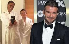 """Bà xã có lần hiếm hoi cười tươi rói trên MXH, David Beckham liền đưa ra lời bình luận nhận về """"cơn bão"""" thả tim của dân mạng"""
