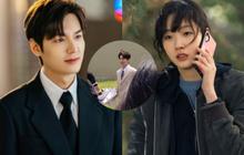 """Rò rỉ thêm ảnh Lee Min Ho rạng rỡ cầm hoa đi đón """"vương phi"""" Kim Go Eun, Quân Vương Bất Diệt sẽ có """"kết hậu""""?"""