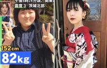 """Cú giảm cân lột xác gây choáng nặng của nữ sinh Nhật Bản: quyết giảm từ 82kg xuống 42kg để tỏ tình với """"người thương"""""""
