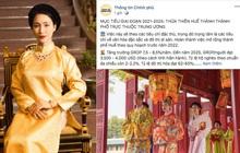 Hình ảnh MV của Hoà Minzy được fanpage Thông tin Chính phủ đăng tải làm minh họa cho mục tiêu phát triển của tỉnh Thừa Thiên Huế