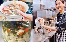 Hoa hậu Dương Mỹ Linh mở bán phở bò ở Mỹ, tô nước dùng rất bắt mắt nhưng dân mạng vẫn tranh cãi về lọ giấm tỏi chuyển màu xanh lét