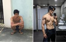 Thanh niên da bọc xương lột xác thành trai cơ bắp nhờ tăng 20kg trong một năm: Còn ai đòi gầy để đẹp nữa không?