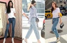 """Vẫn là quần jeans nhưng qua tay các idol Kpop lại cực """"chanh sả"""", hack chân điệu nghệ: Chị em có thể ứng dụng từ loạt street style này"""