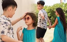 """Thu Trang tung loạt ảnh """"new couple"""" cực tình của quý tử và con gái Đoan Trang: Chờ gì mà không """"đẩy thuyền"""" nè cô chú ơi!"""
