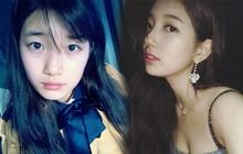 2 thái cực selfie phản ánh đúng luôn style của Suzy: Hồi mới debut thì giản dị, e ấp - khi đã nổi đình đám thì sexy bung lụa