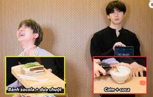 """Màn mukbang """"nhìn thôi đã thấy đau bụng"""" của hai nam idol Hàn Quốc: socola với dưa chuột, phô mai với kim chi và còn hơn thế nữa!"""