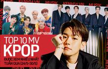 10 MV Kpop được xem nhiều nhất tuần: Baekhyun và MONSTA X comeback mạnh mẽ vẫn không thắng nổi Suga; BTS chạy đua cột mốc tỷ views