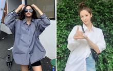 Đã bao mùa Hè trôi qua, sao Hàn vẫn chưa chán một kiểu áo sơ mi ai mặc cũng đẹp và sành điệu hơn gấp bội